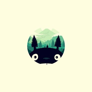 papers.co-ao36-totoro-art-illust-simple-cute-1-wallpaper